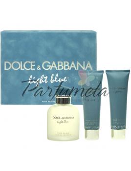 Dolce & Gabbana Light Blue Pour Homme, Edt 75 ml + 50ml balsam po holení + 50ml sprchový gel