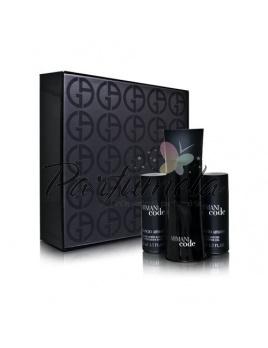Giorgio Armani Black Code, Edt 75ml + 50ml balsam po holení + 50ml sprchový gel