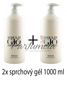 Giorgio Armani Acqua di Gio Pour Homme, 2x Sprchový gél 1000ml