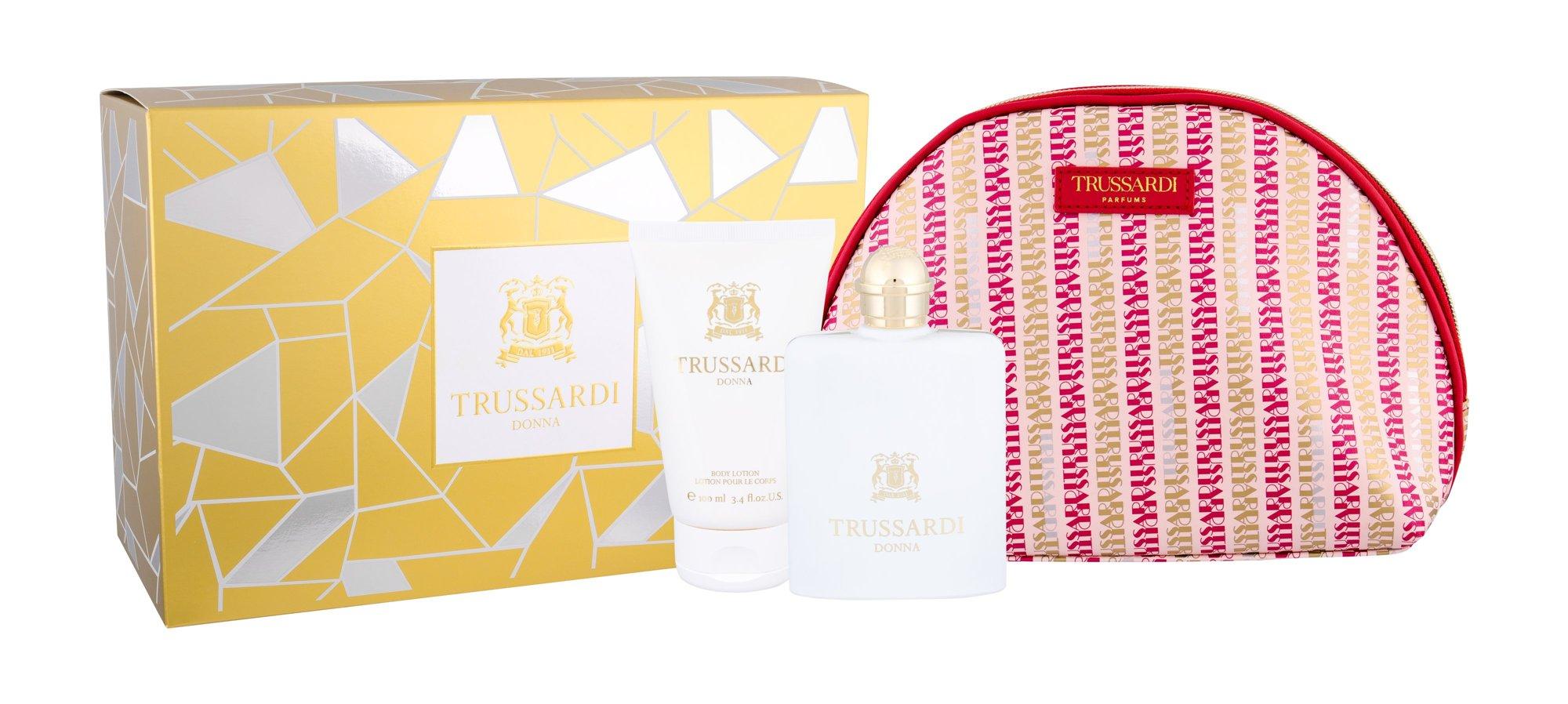 Trussardi Donna, parfumovaná voda 100 ml + telové mlieko 100 ml + kozmetická taška